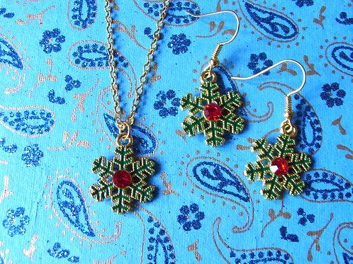 Blue Sky Snow Flake Jewellery