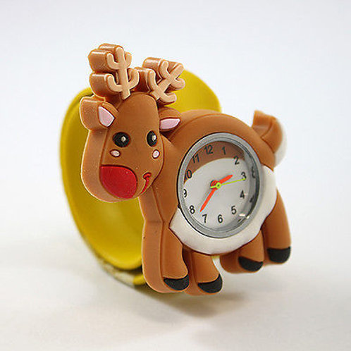 Reindeer Popwatch Snap On Slap Watch