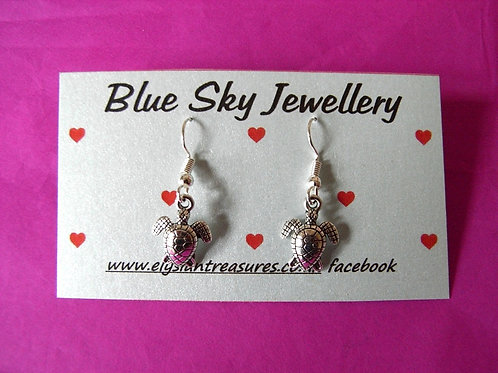 Blue Sky Turtle Earrings