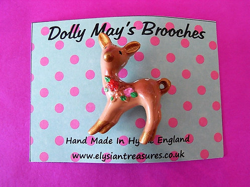 Dolly May Deer Brooch