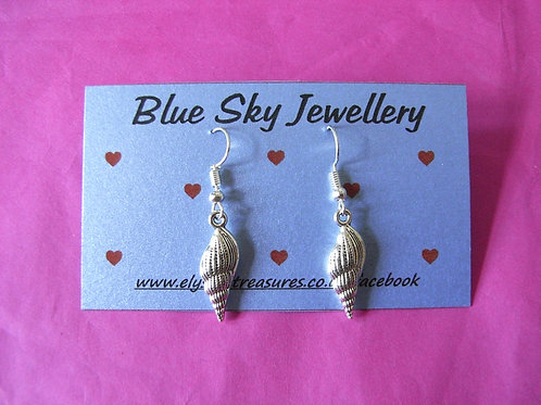 Blue Sky Shell Earrings