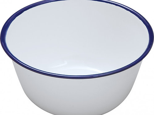 Falcon Blue and White Enamel Pudding Basins