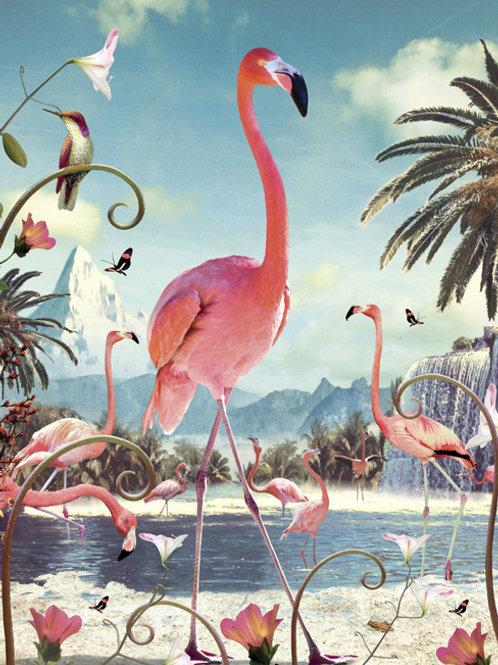 Pink Flamingo's Card