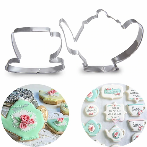Tea Pot + Teacup Cookie Set