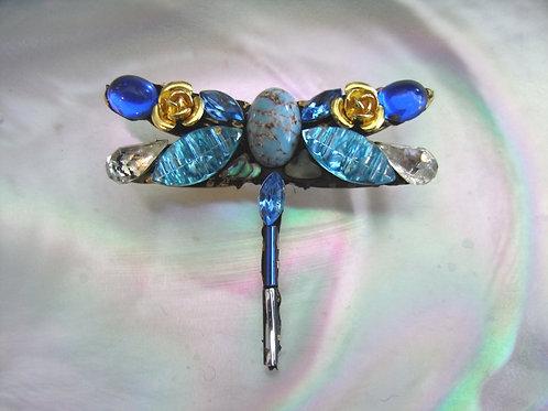 Annie Sherburne Blue Dragonfly Brooch