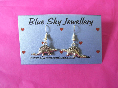 Blue Sky Stegosaurus Earrings