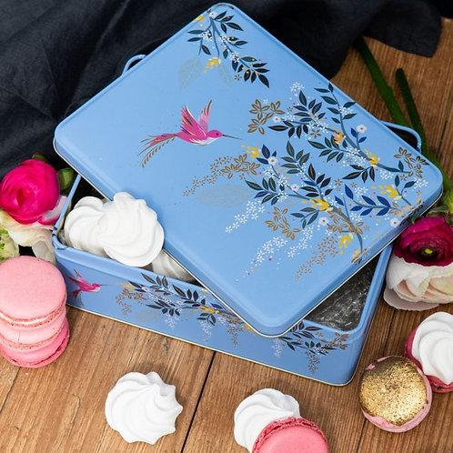 Sara Miller Blue Hummingbird Tin