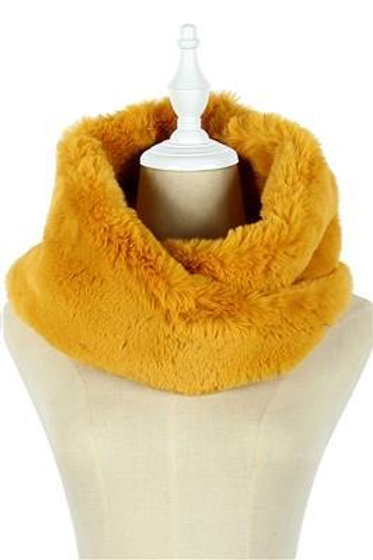 Mustard Faux Fur Snood