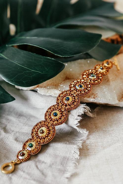 My Doris Beaded Gold Bracelet
