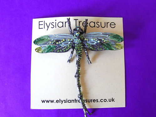 Pea Green Dragonfly Brooch