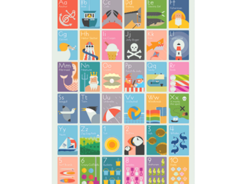 Andy Tuohy Seaside Alphabet Poster