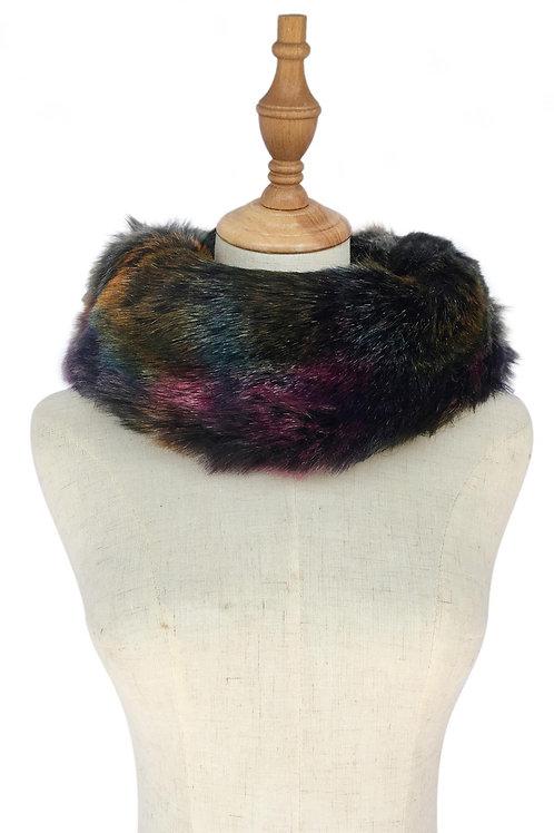 Jewel Coloured Faux Fur Snood