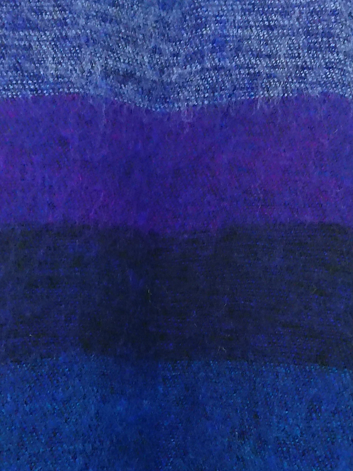 Blue Tassel Scarf 50% Wool