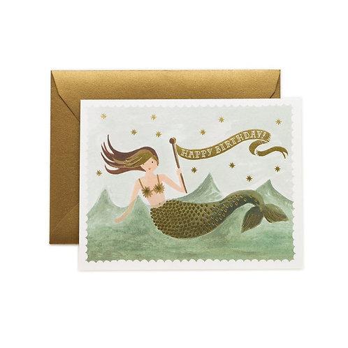 Rifle & Co Mermaid Birthday Card