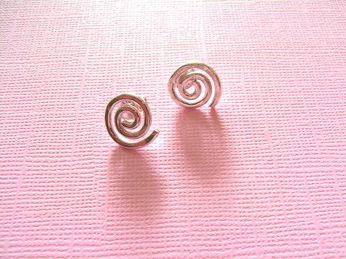 Siren Silver Swirl Stud Earrings