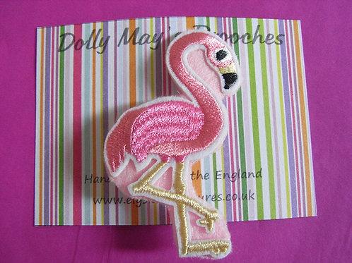 Dolly May Pink Flamingo Brooch