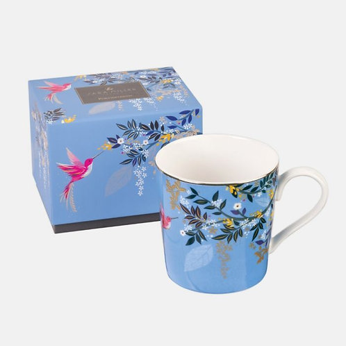 Sara Miller Light Blue Hummingbird Mug