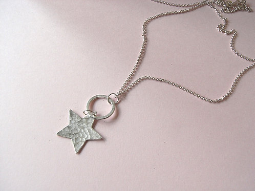 Old Farmhouse Hammered Star Necklace