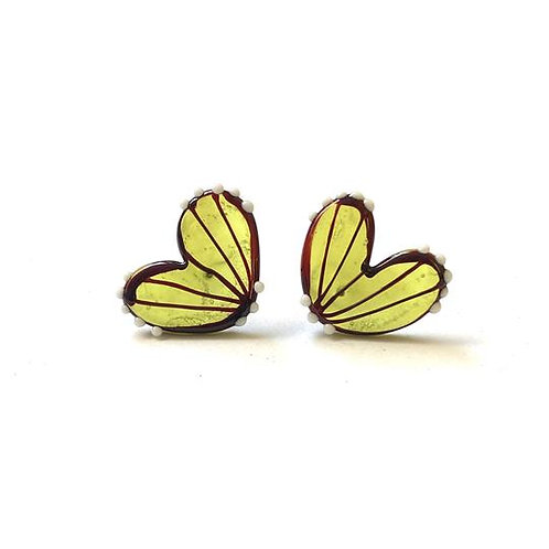 Helen Chalmers Chartreuse Butterfly Wing Studs
