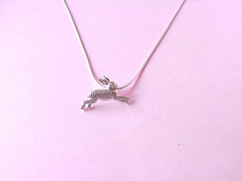 Siren Silver Hare Charm Necklace