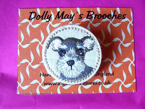 Dolly May Schnauzer Brooch