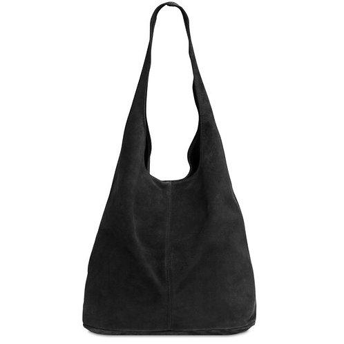Juliet Black Suede Bucket Bag