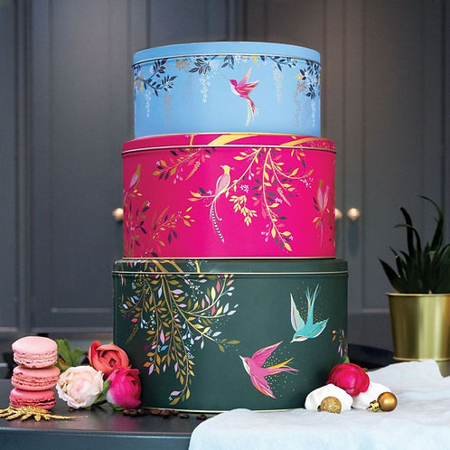 Sara Miller Swallows, Hummingbird + Bird Of Paradise Cake Tins