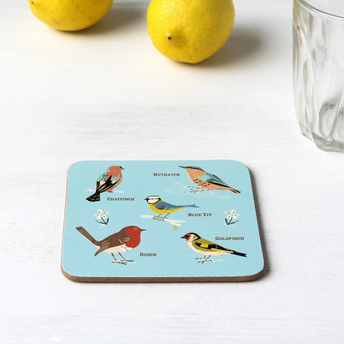 Set Of Four Garden Birds Coasters