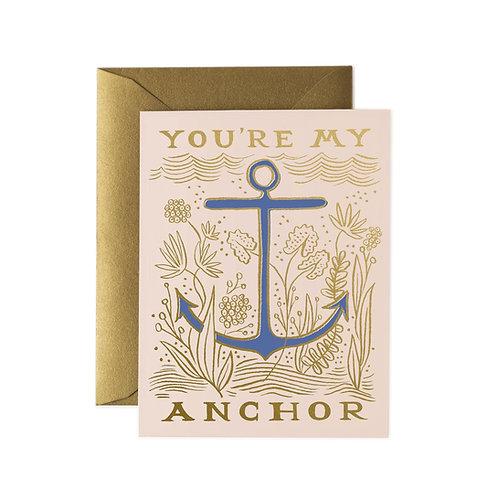 Rifle & Co 'My Anchor' Card