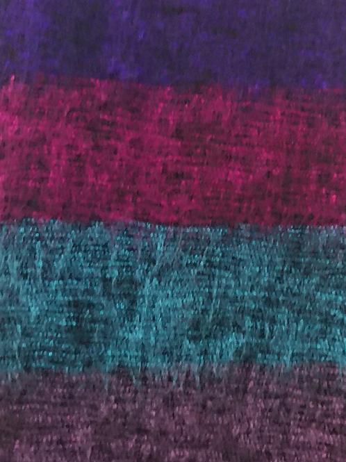 Purple + Fuchsia Tassle Scarf 50% Wool