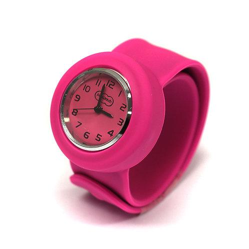 Hot Pink Popwatch Snap On Slap Watch