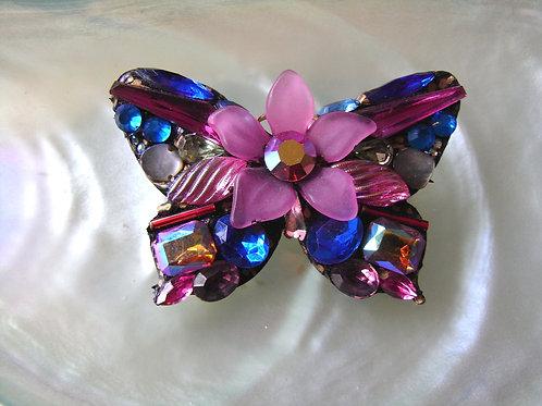 Annie Sherburne Pink Butterfly Brooch