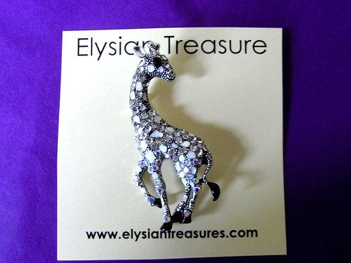 Crystal Giraffe Brooch/Necklace