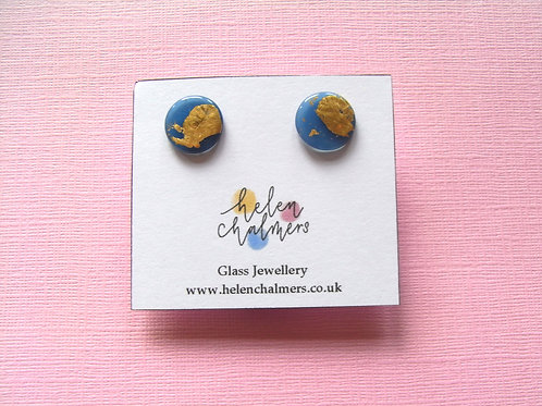 Helen Chalmers Denim Button Studs (Design 31)