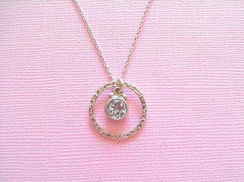 Siren Silver Blue Topaz Necklace