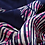Thumbnail: Pink & Navy Cross Hatched Scarf 100% Silk
