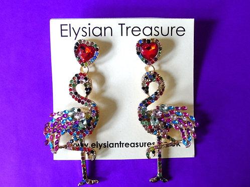 Colourful Flamingo Earrings