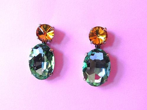Emerald Crystal Drop Earrings