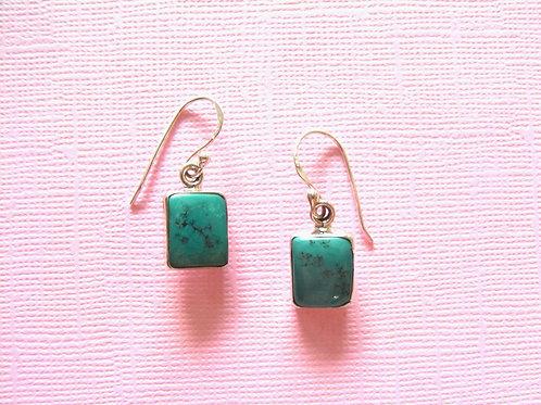 Siren Silver Turquoise Earrings