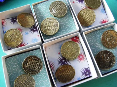 Vintage Threepence Cufflinks