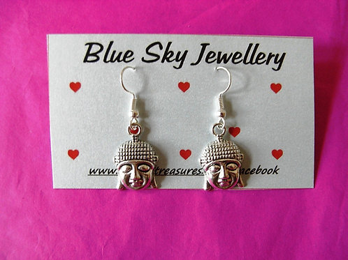 Blue Sky Buddha Earrings