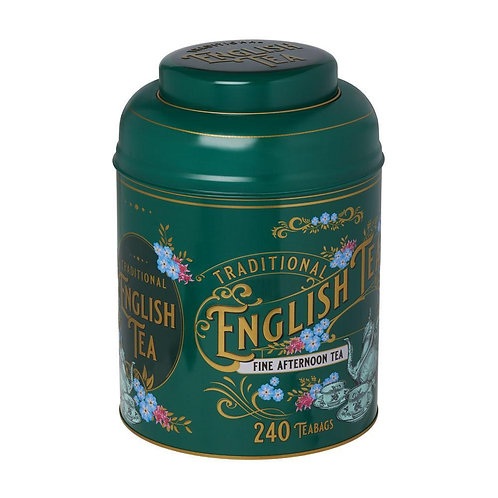 VINTAGE VICTORIAN TEA TIN WITH 240 ENGLISH AFTERNOON TEABAGS