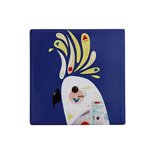 Maxwell & Williams Pete Cromer Ceramic Square 9.5cm Coaster Cockatoo