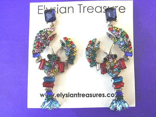 Lobster Stud Cocktail Earrings