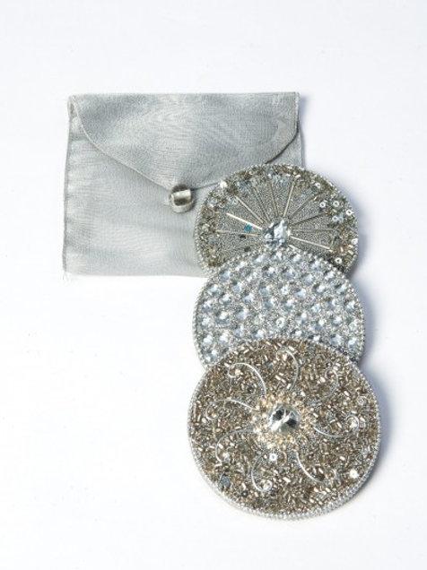 Silver Decorative Handbag Mirrors