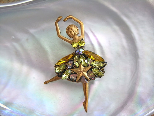 Annie Sherburne Citrine Ballerina Brooch