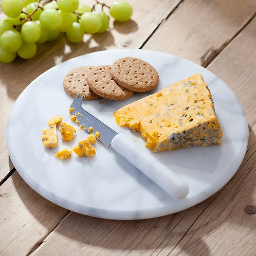Marble Cheese Board + Cheese Knife