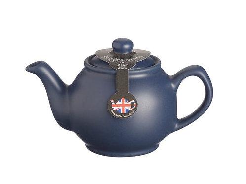 Matt Navy Blue 2cup Teapot