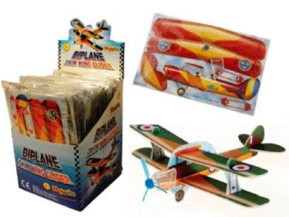 Biplane Twin Wing Glider x 2