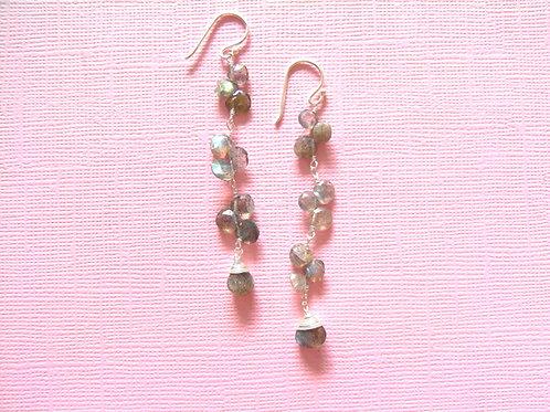 Siren Silver Labradorite Drop Earrings